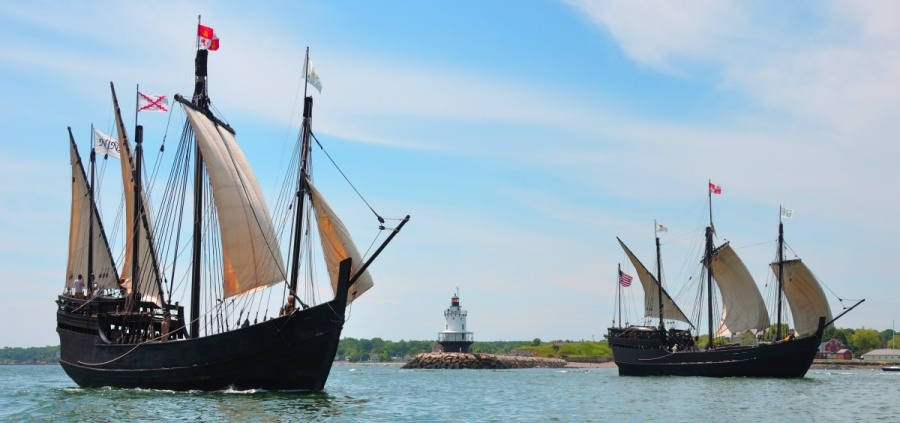 Columbus ships, the Nina and the Pinta, to land in Wilmington!